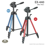 Velbon EX 440 BLUE, RED